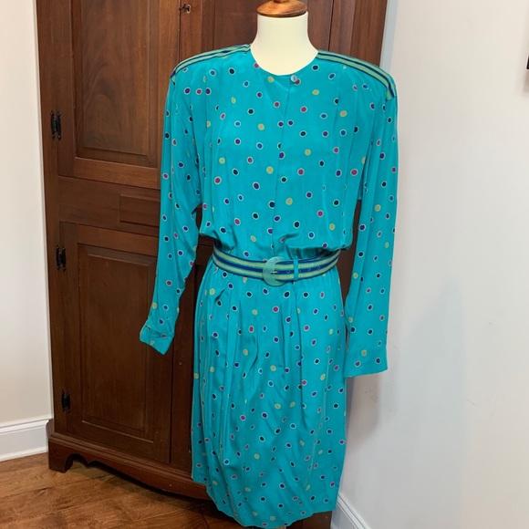 Silk Polka Dot 1980s Robe
